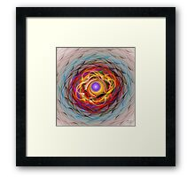 'Light Flame Abstract 285' Framed Print