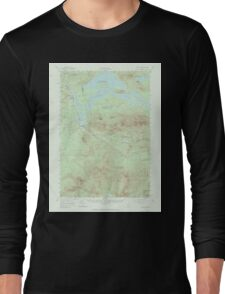Maine USGS Historical Map Stratton 306803 1956 62500 Long Sleeve T-Shirt