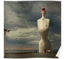 French surreal lighthouse Poster