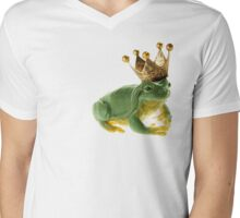 Frog King Mens V-Neck T-Shirt