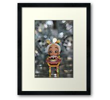 when a child was born Framed Print