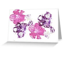 Pink and Purple Greeting Card