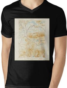 Maine USGS Historical Map Stratton 460934 1932 62500 Mens V-Neck T-Shirt