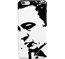 JOHNNY CASH SILHOUETTE - solid black iPhone Case/Skin