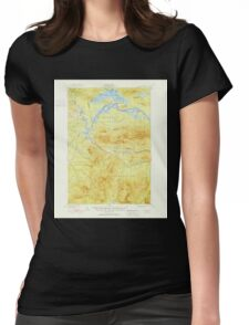 Maine USGS Historical Map Stratton 460935 1928 62500 Womens Fitted T-Shirt