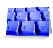 Blue Keyboard Greeting Card