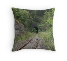 Disappearing tunnel. Throw Pillow