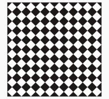 Seamless diagonal black on transparency diamond background T-Shirt