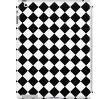 Seamless diagonal black on transparency diamond background iPad Case/Skin