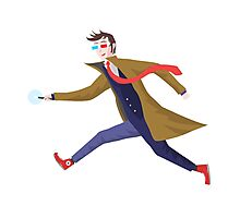 10th Doctor Vector Sticker Photographic Print