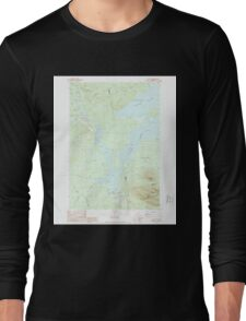 Maine USGS Historical Map Stratton 460940 1989 24000 Long Sleeve T-Shirt