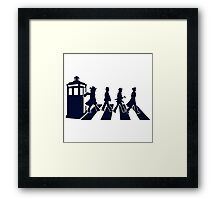 Tardis Road - Blue Framed Print