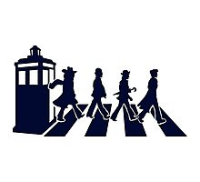Tardis Road - Blue Photographic Print