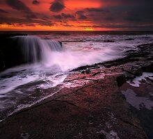 SUNRISE FALLS. by STEVE  BOOTE