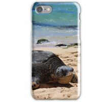Hawaiian Beach Turtle iPhone Case/Skin