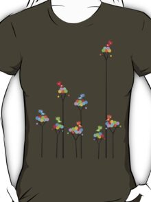 Tweeting Birds (on light) T-Shirt