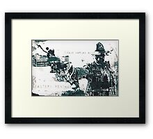 Justified typography piece Framed Print