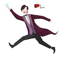 11th Doctor Vector Sticker by DanDeschaine