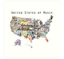 United States of Music Art Print