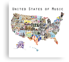United States of Music Canvas Print