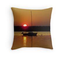 Night Sail Throw Pillow