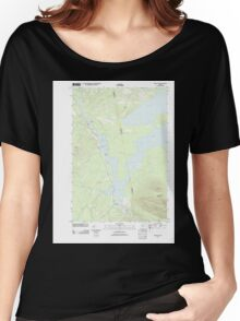 Maine USGS Historical Map Stratton 20110909 TM Women's Relaxed Fit T-Shirt