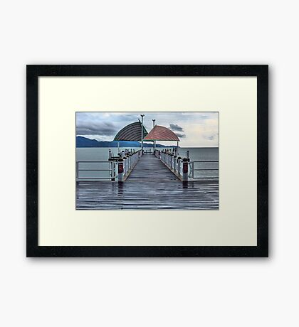 Jetty on the Strand, HDR Framed Print