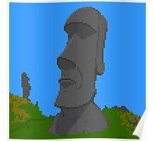 Pixel Moai Poster