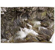 Wet Rock Formations Poster