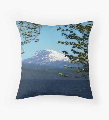 Blowing Throw Pillow
