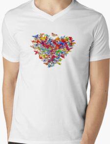 Flutterbys Mens V-Neck T-Shirt