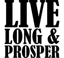 Live Long & Prosper Nimoy Photographic Print