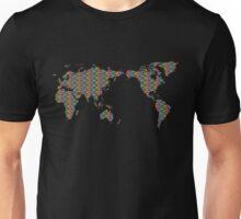 Rainbow Mosaic World Map T-Shirt