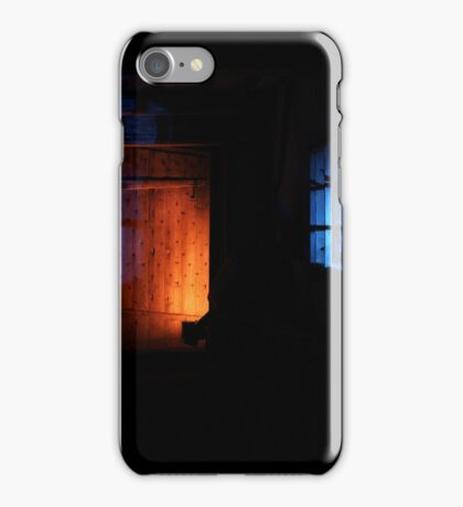 27.2.2015: Light Painting in Abandoned Cowshed I iPhone Case/Skin