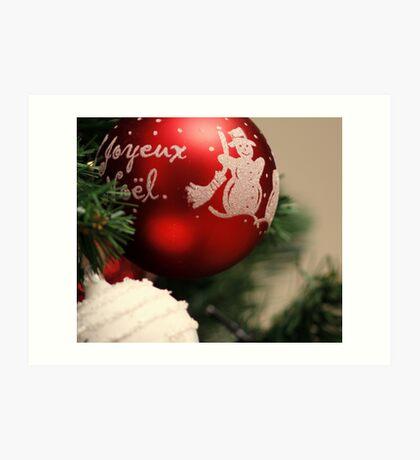 French Merry Christmas Art Print