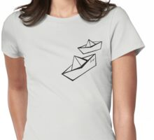 Paper Boats Womens Fitted T-Shirt