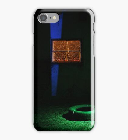 27.2.2015: Light Painting in Abandoned Cowshed III iPhone Case/Skin
