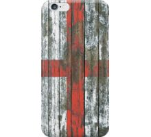 Flag of England on Rough Wood Boards Effect iPhone Case/Skin