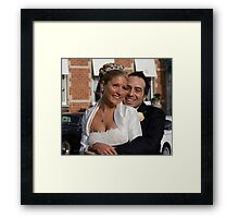 Two Hearts Become One... Framed Print