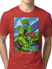 """""""To the Beach!"""" Tri-blend T-Shirt"""