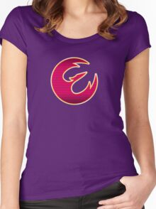 Rebel Phoenix Crest Women's Fitted Scoop T-Shirt