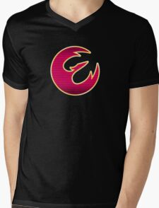 Rebel Phoenix Crest Mens V-Neck T-Shirt