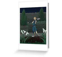 The Midnight Gardener Greeting Card