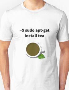 Linux sudo apt-get install tea T-Shirt