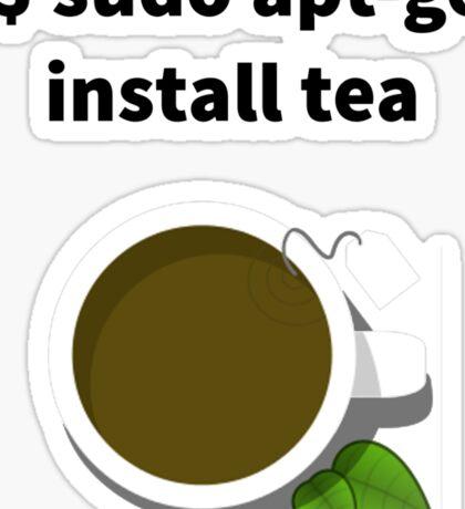 Linux sudo apt-get install tea Sticker