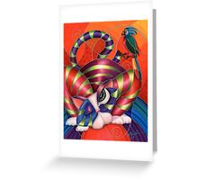 Red Aris-to-Cat Blu Blood Greeting Card
