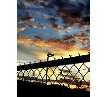 Fence Sunset Photographic Print