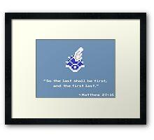 Mario Kart Blue Shell - 8-bit 2 Framed Print