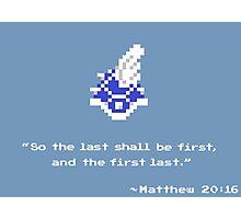 Mario Kart Blue Shell - 8-bit 2 Photographic Print