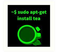 Linux sudo apt-get install tea Art Print